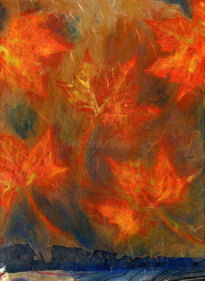 Media mezclado de las hojas de arce libre illustration