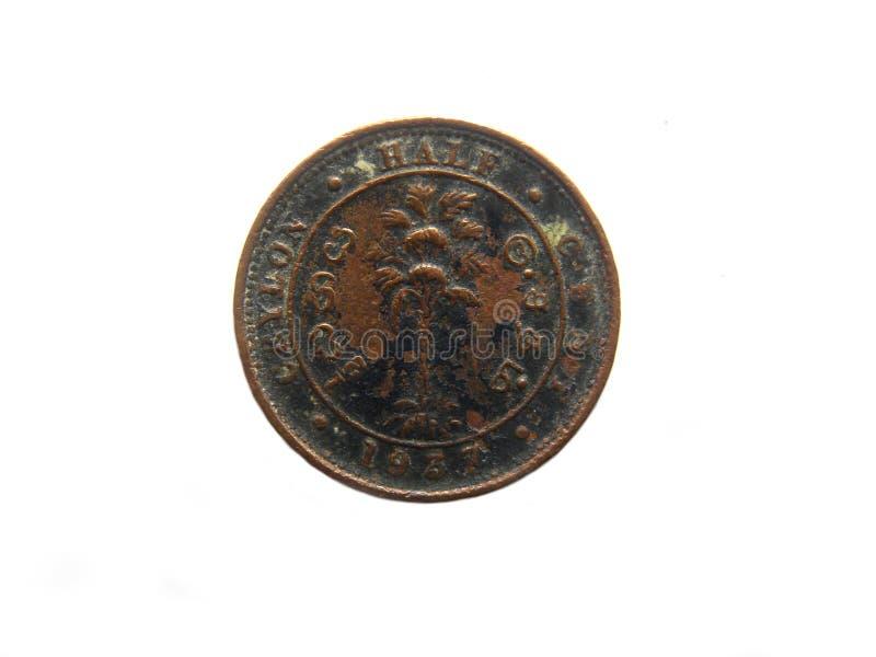 Media moneda del centavo imagenes de archivo