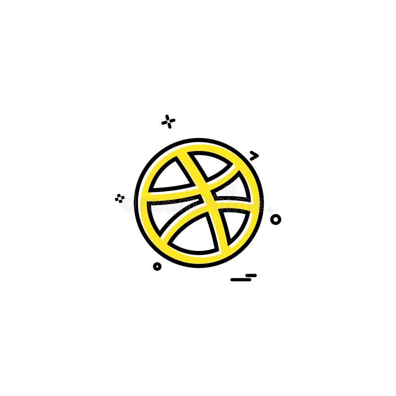 Media network social dribbble icon vector designn. Media network social dribbble icon vector design - This Vector EPS 10 illustration is best for print media stock illustration