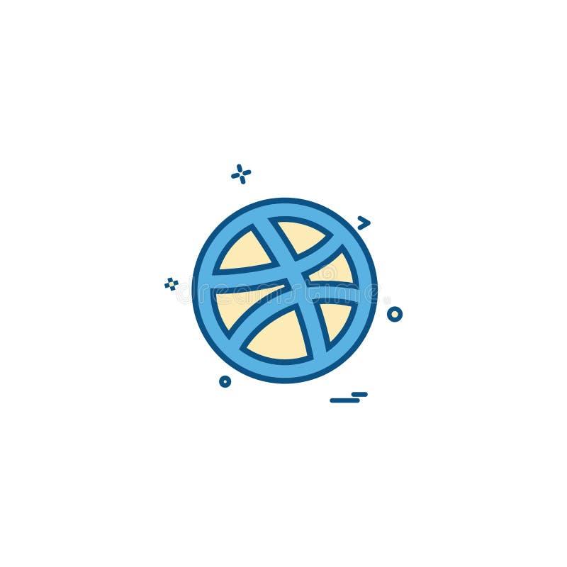 Media network social dribbble icon vector designn. Media network social dribbble icon vector design - This Vector EPS 10 illustration is best for print media royalty free illustration