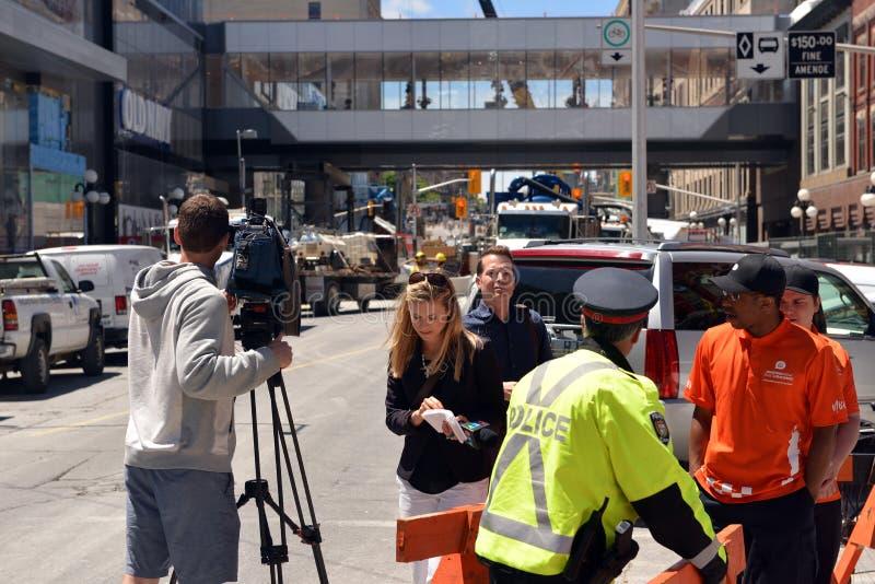 Media op plaats van sinkhole van Ottawa royalty-vrije stock afbeelding