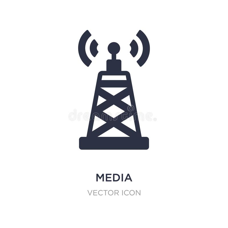 media pictogram op witte achtergrond Eenvoudige elementenillustratie van Technologieconcept stock illustratie