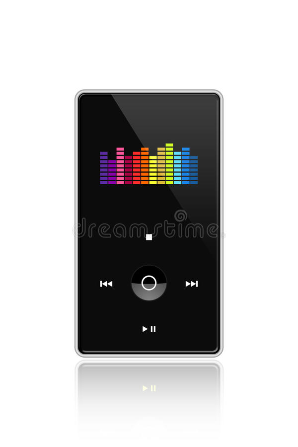 Download Media player. stock illustration. Image of isolated, mobile - 27474921