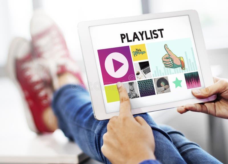 Media Player Audio Entertainment Streaming Concept stock photo