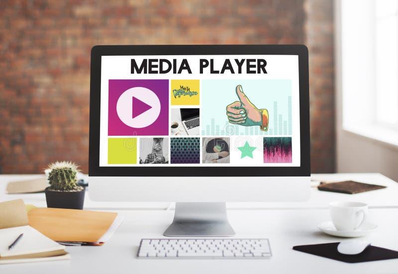 Media Player Audio Entertainment Streaming Concept.  stock photos