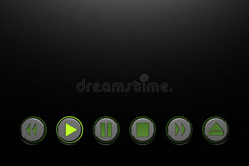Media player buttons stock illustration