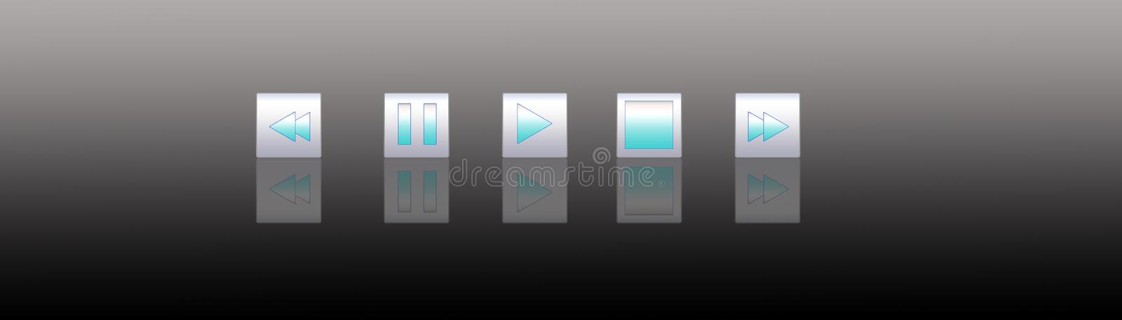 Media player buttons 5 royalty free illustration