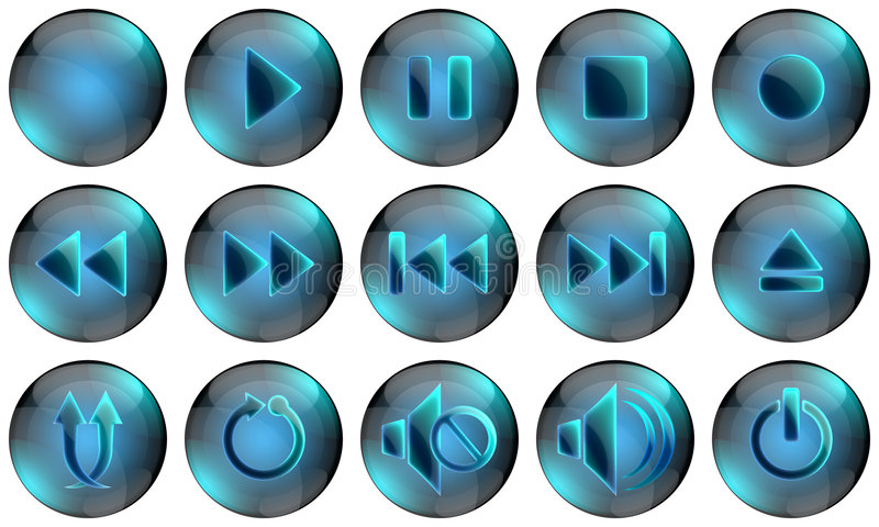 Download Media Player Buttons stock illustration. Image of repeat - 8976962