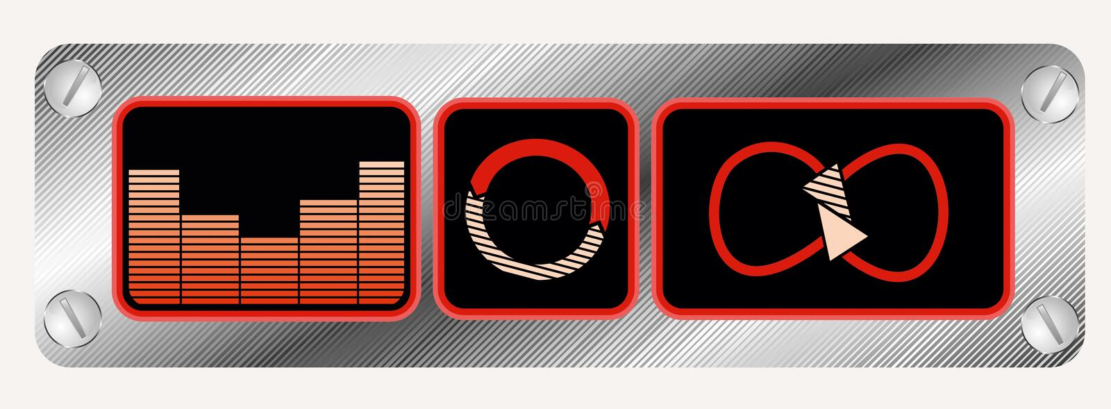 Media player elements royalty free stock photo