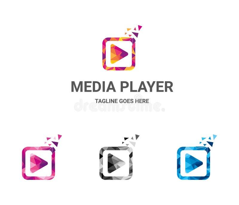 Media Player-embleem royalty-vrije illustratie