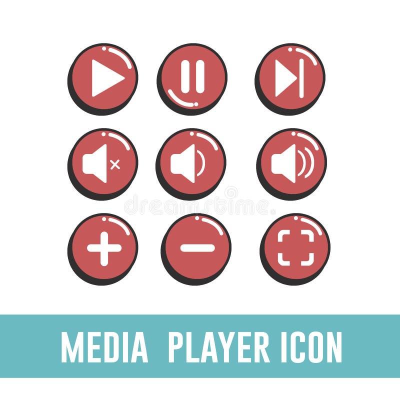 Media Player Icon stock photos