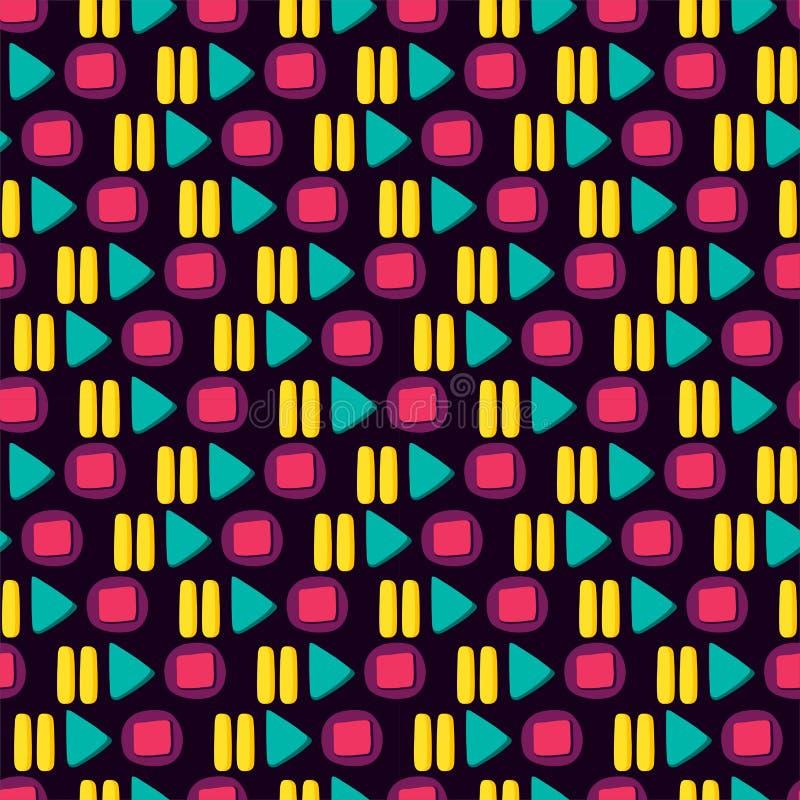 Media Player Kolorowego guzika Płaski Bezszwowy wzór ilustracji