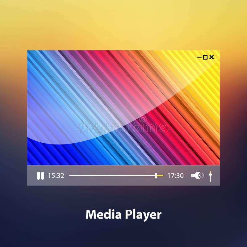 Media Player. Vector illustration royalty free illustration
