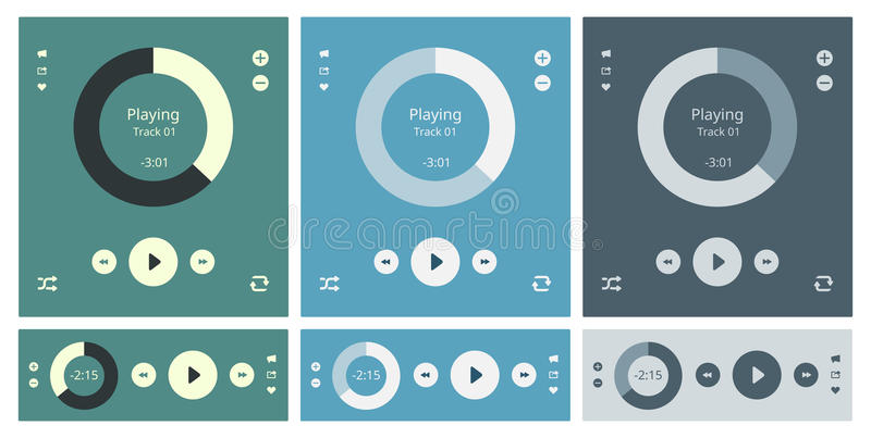 Media player vector interface royalty free illustration