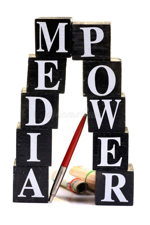 Media power. Concept image of media power isolated on white background royalty free stock image
