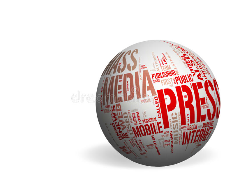 Download Media And Press - Copyspace Stock Illustration - Image: 22947951
