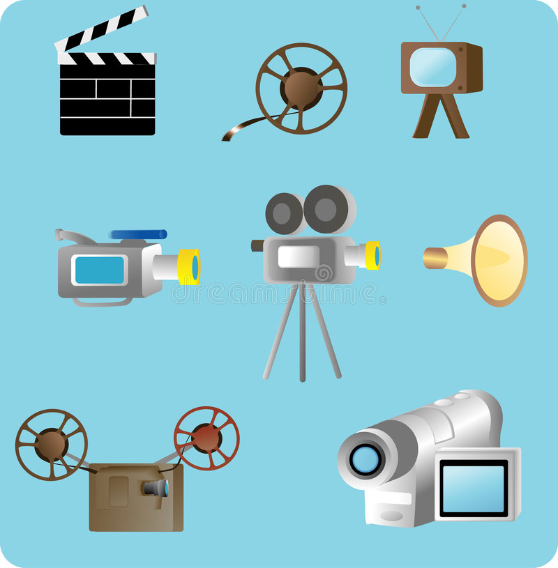 Media Related Objects Royalty Free Stock Photos