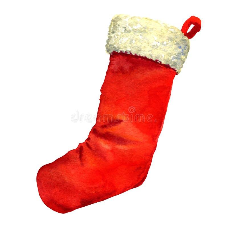 Media roja de la Navidad de Papá Noel aislada fotos de archivo