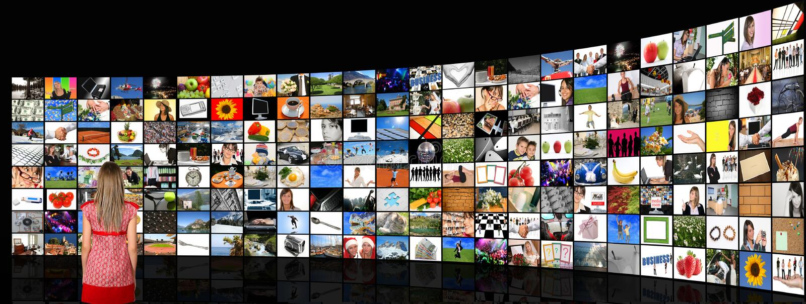 Media room royalty free stock photography