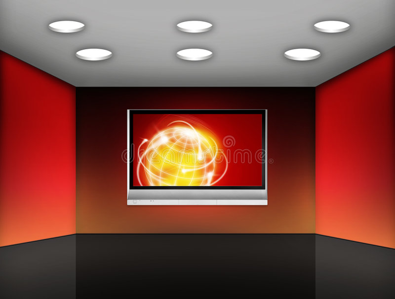 Download Media room stock illustration. Illustration of looking - 7147518