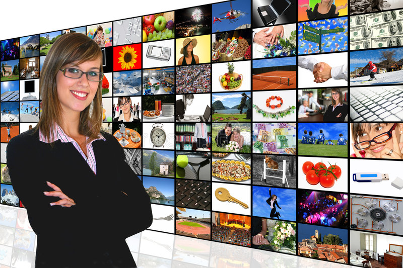 Download Media Room stock image. Image of people, business, screen - 7750335