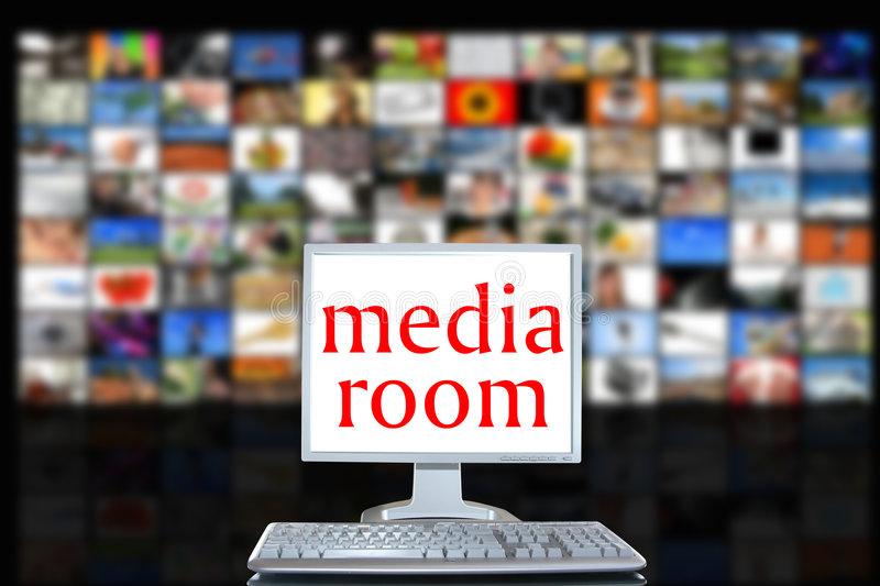Media room stock photo
