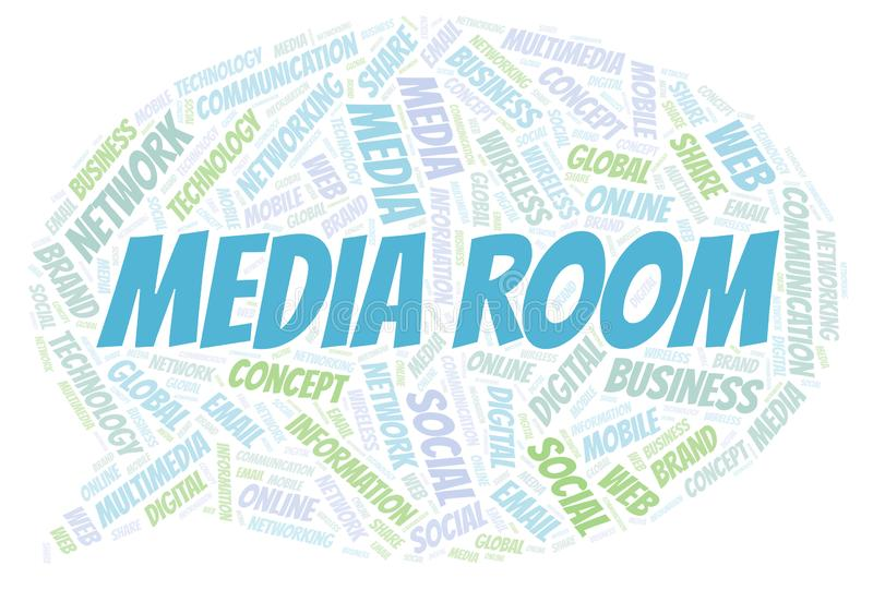 Media Room word cloud royalty free illustration