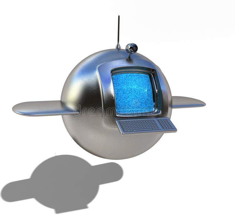 Media satélites ilustração stock