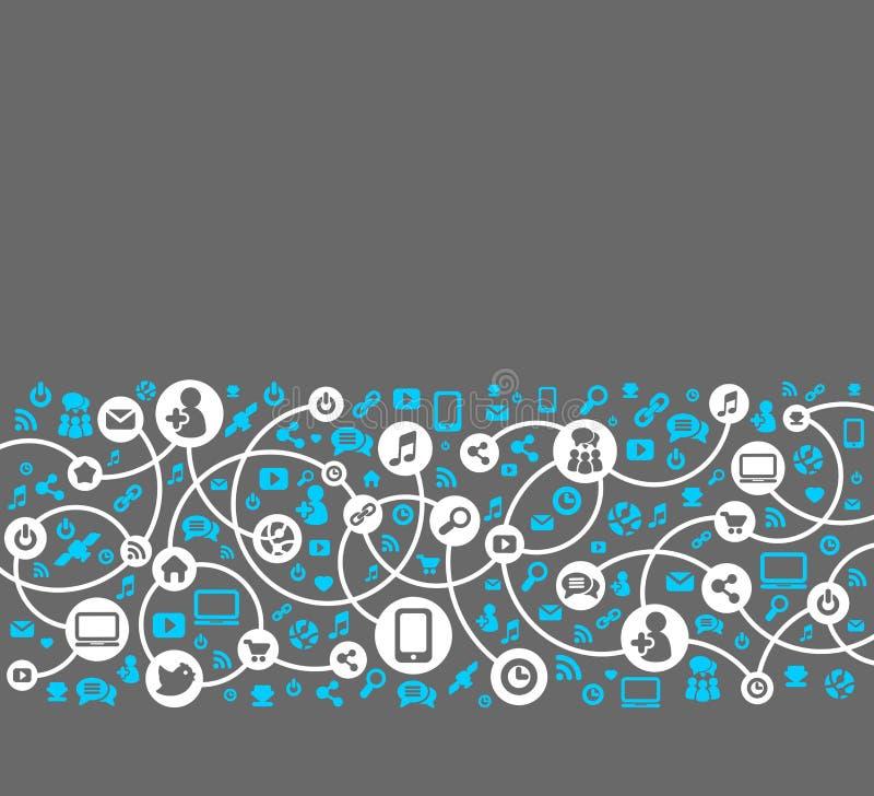 Media sociais, fundo do vetor dos ícones