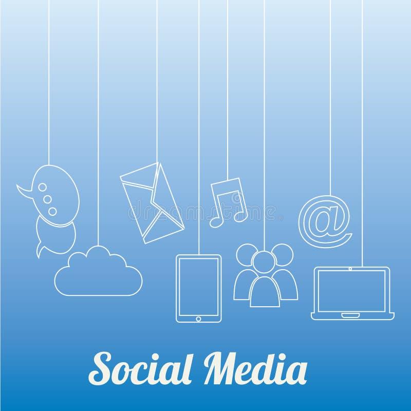 Media social illustration stock