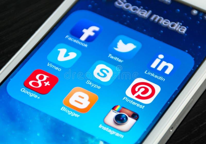 Media social photographie stock