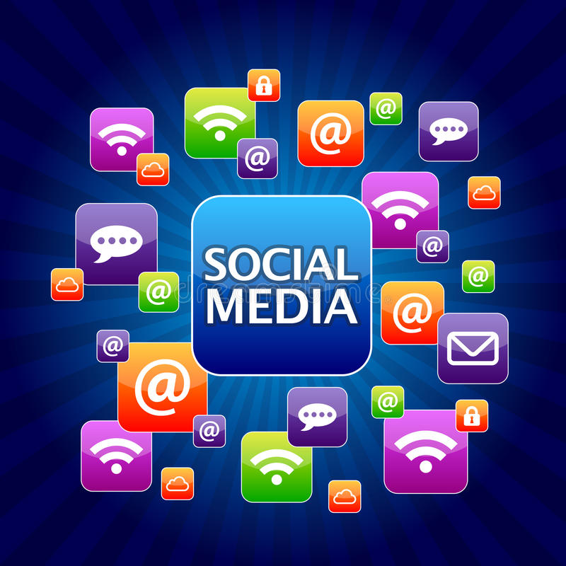 Media social illustration de vecteur