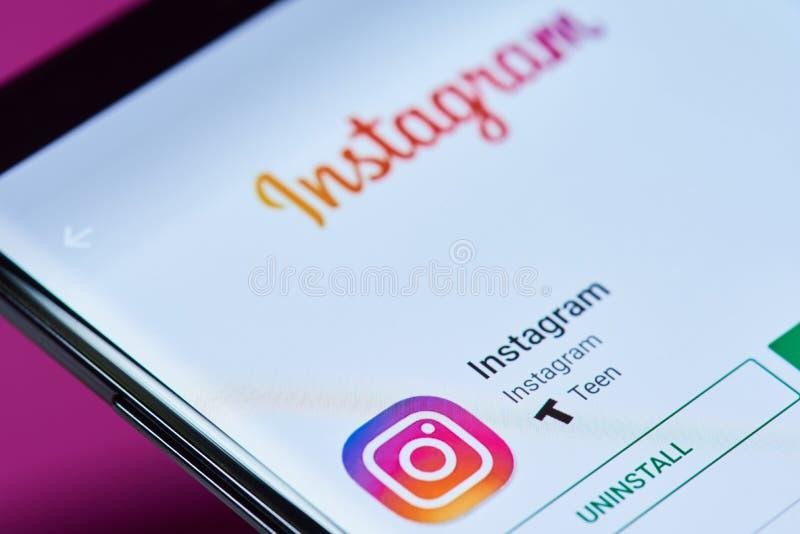 Media social APP d'Instagram photographie stock libre de droits