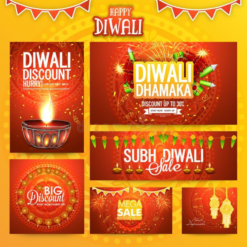 Media social courrier et en-tête pour Diwali