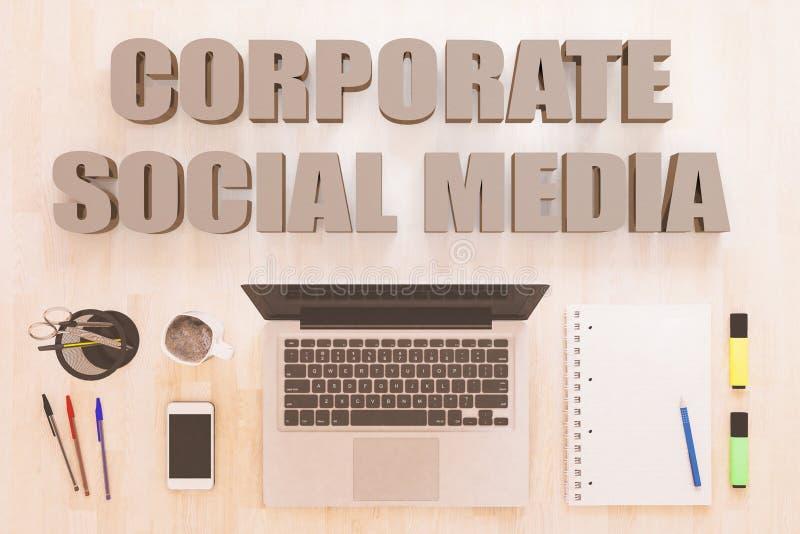 Media social d'entreprise illustration libre de droits