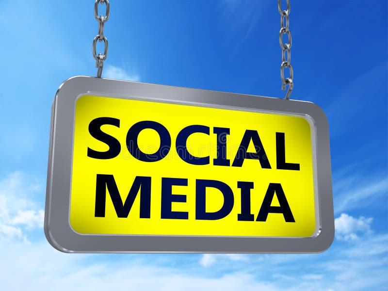Media social sur le panneau d'affichage illustration libre de droits