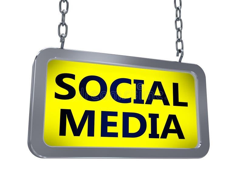 Media social sur le panneau d'affichage illustration de vecteur