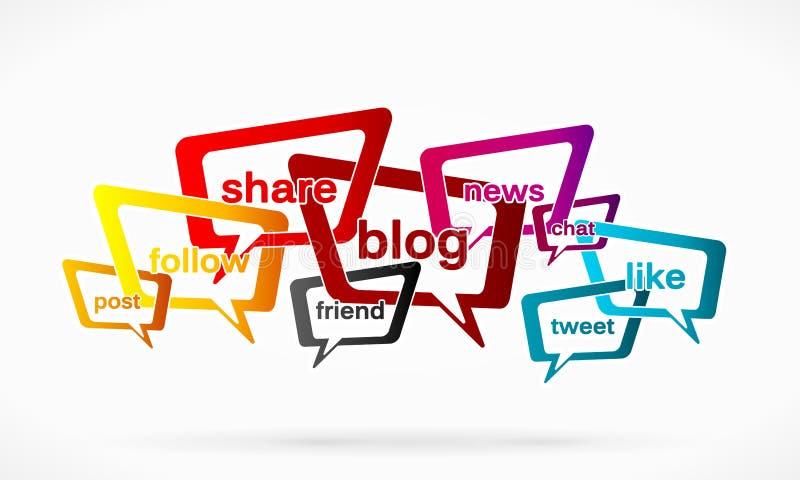 Media sociales ilustración del vector