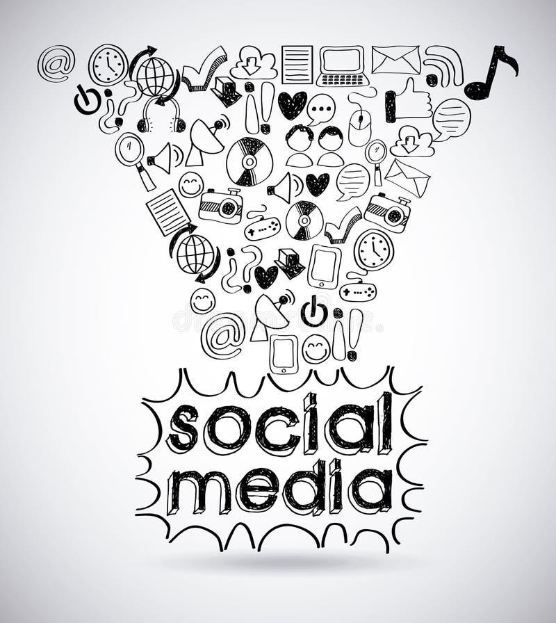 Media sociales stock de ilustración