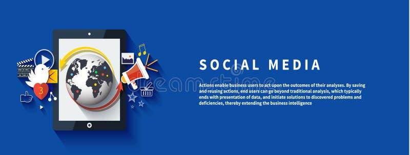Media sociales Nube de los iconos de la aplicación ilustración del vector