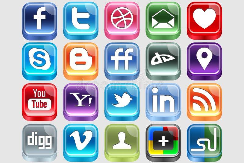 Media sociales plásticos libre illustration