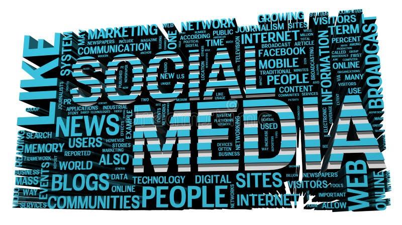 Media sociali royalty illustrazione gratis