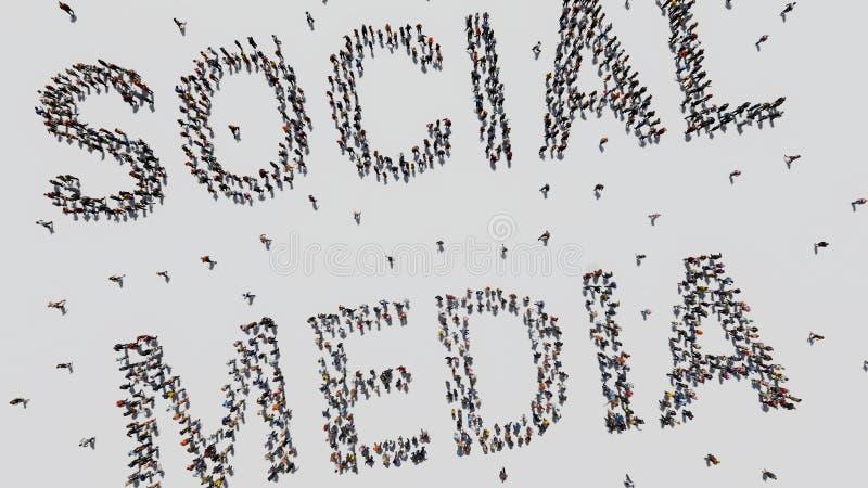 Media sociali fatti dalla gente fotografie stock