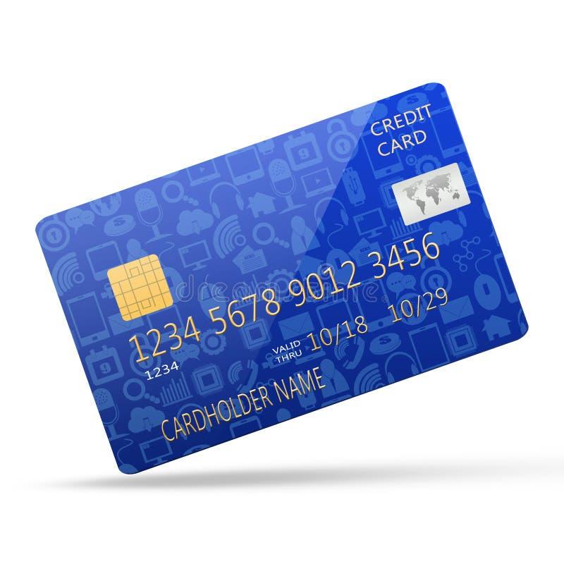 Media sociali sulla carta di credito illustrazione di stock