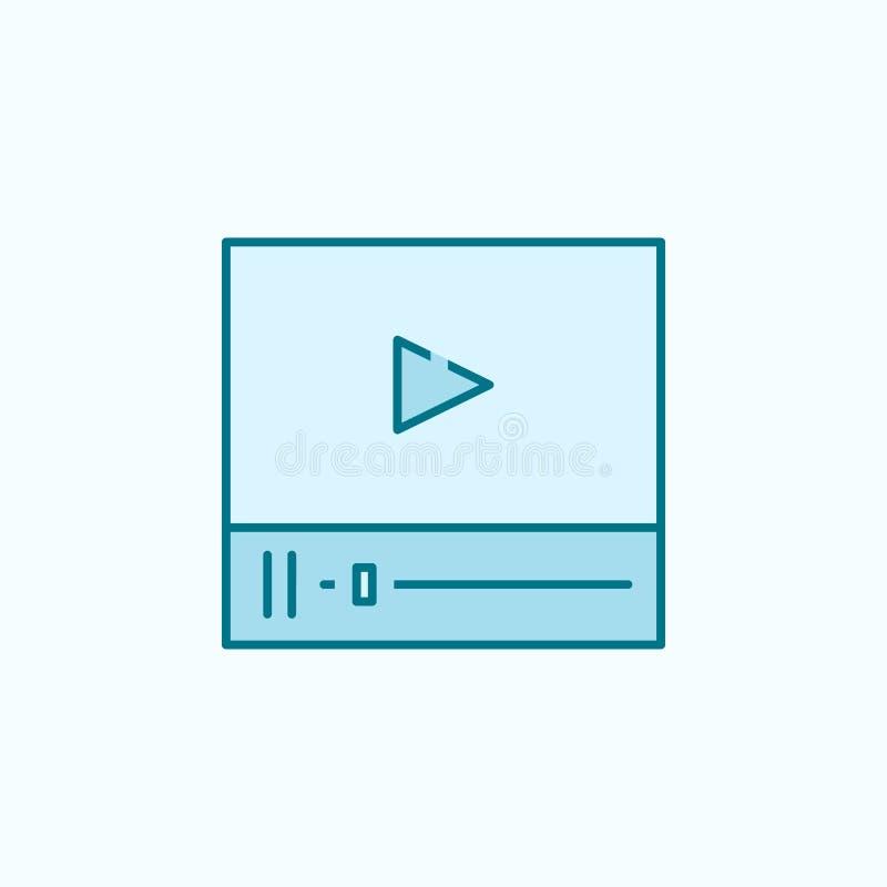 media speler 2 rassenbarrièrepictogram Eenvoudige kleurenelementillustratie media het ontwerp van de speleroverzichtsknop van gep vector illustratie