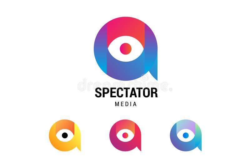 Media spettatori illustrazione di stock