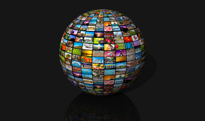 Media sphere royalty free stock images