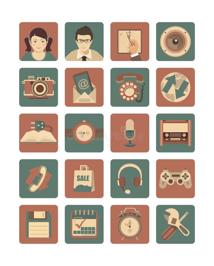 Download Media Square Icons Set stock vector. Image of radio, calendar - 43305331
