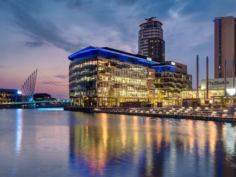 Media stad, Salford-Kaden, Manchester stock fotografie