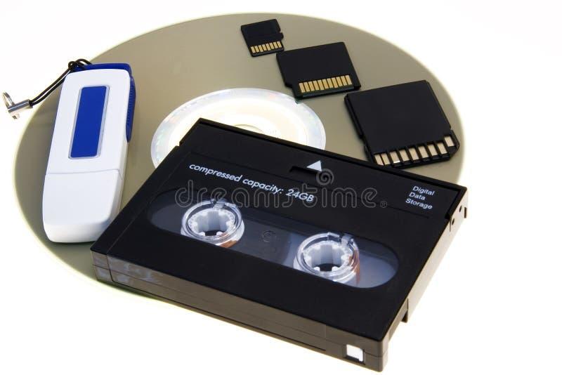 Media storage memory royalty free stock photo
